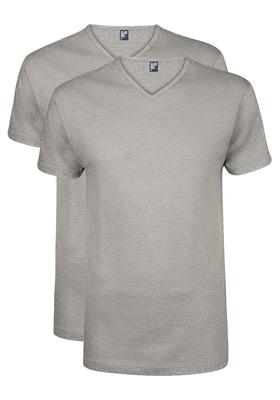 Alan Red T-shirts Vermont (2-pack), V-hals, grijs gemêleerd