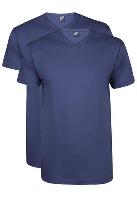 Alan Red T-shirt Vermont (2-pack), V-hals, kobalt blauw