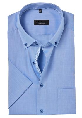 ETERNA Comfort Fit korte mouw, lichtblauw lightweight (contrast)