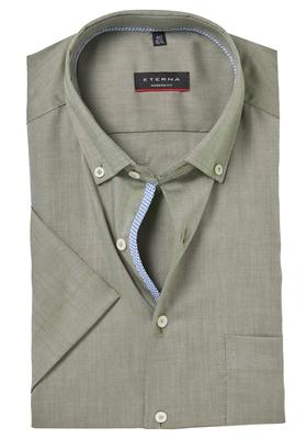 ETERNA Modern Fit overhemd, korte mouw, groen (contrast)
