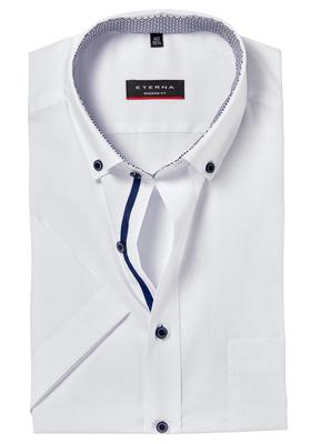 ETERNA Modern Fit overhemd, korte mouw, wit (contrast)