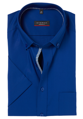 ETERNA Modern Fit overhemd, korte mouw, blauw (contrast)