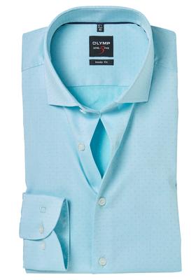 OLYMP Level 5 Body Fit overhemd, 2-ply mintgroen ingeweven stip