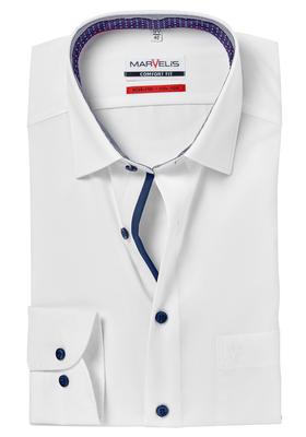 MARVELIS Comfort Fit overhemd, wit (contrast)