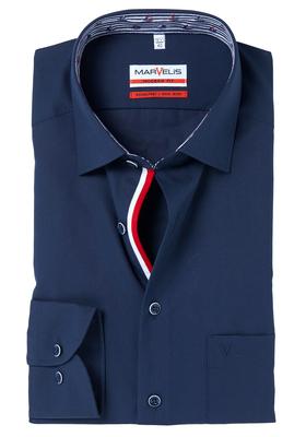 MARVELIS Modern Fit overhemd, blauw (zeilbootjes contrast)