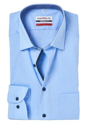 MARVELIS Comfort Fit, overhemd, lichtblauw (contrast)