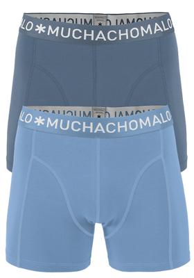 Muchachomalo boxershorts, 2-pack, solid antraciet en lichtblauw