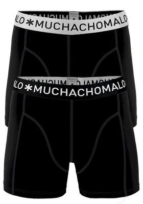 Muchachomalo boxershorts, 2-pack, solid zwart