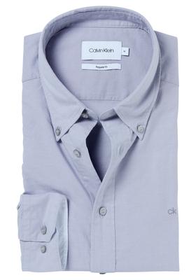 Calvin Klein Sportswear overhemd (Galdo), grijs button-down washed Oxford