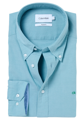 Calvin Klein Sportswear overhemd (Galdo), mint groen button-down washed Oxford