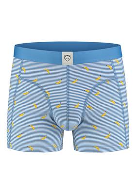 A-dam boxershort Milan, blauw gestreept