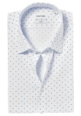 Calvin Klein Slim Fit overhemd (Padua), wit-blauw dessin