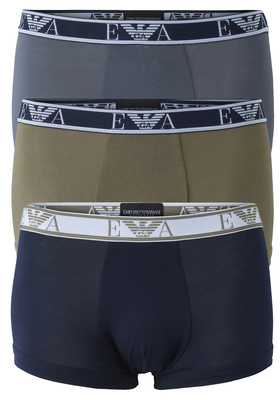 Armani Trunks (3-pack), blauw, groen, antraciet