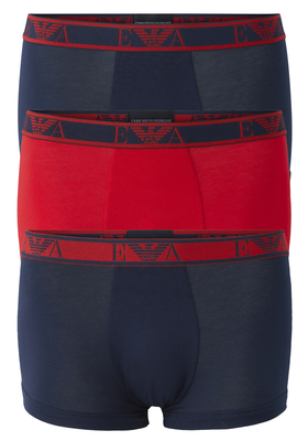 Armani Trunks (3-pack), blauw, rood