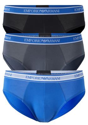 Armani Slips (3-pack), zwart, grijs, kobalt