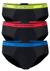 Armani Slips (3-pack), zwart met gekleurde band