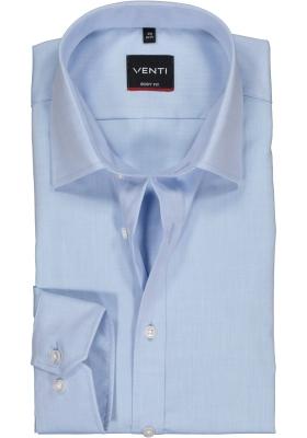 VENTI body fit overhemd, mouwlengte 72 cm, lichtblauw