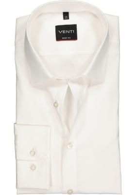 VENTI body fit overhemd, mouwlengte 72 cm, beige