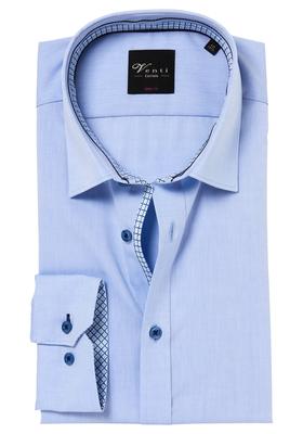 Venti Body Fit overhemd, lichtblauw (contrast)