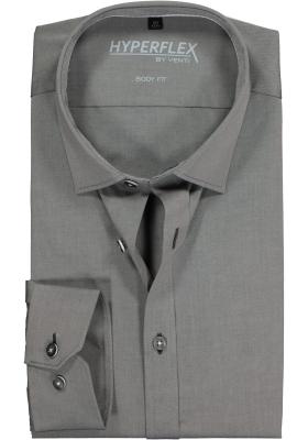 Venti Body Fit overhemd super stretch, grijs