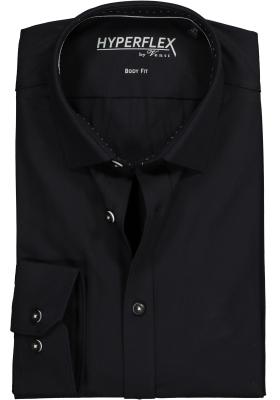 Venti Body Fit overhemd super stretch, zwart
