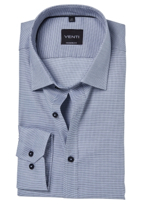 Venti Modern Fit overhemd, grijs structuur