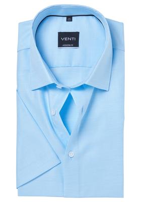 Venti Modern Fit overhemd korte mouw, mint groen structuur