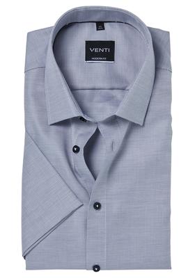 Venti Modern Fit overhemd korte mouw, grijs structuur