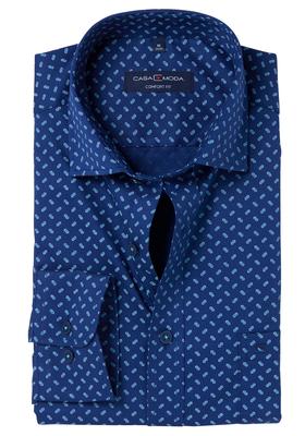 Casa Moda Comfort Fit overhemd, blauw-groen dessin