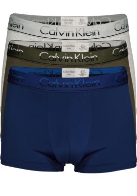 Calvin Klein Trunks (3-pack), kobaltblauw, groen en grijs