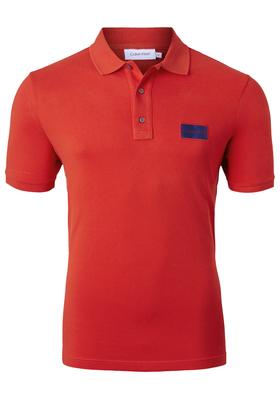 Calvin Klein pique logo badge Polo, rood
