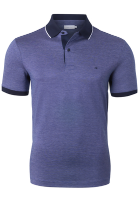 Calvin Klein Nathan 3-tone pique polo, donkerblauw