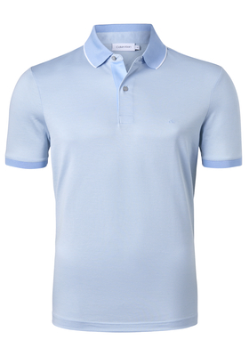 Calvin Klein Nathan 3-tone pique polo, lichtblauw
