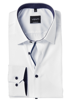 Venti Modern Fit overhemd, wit contrast