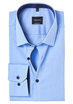 Venti Modern Fit overhemd, blauw contrast