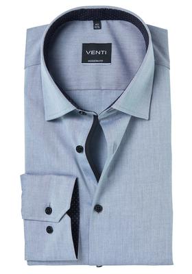 Venti Modern Fit overhemd, grijs contrast