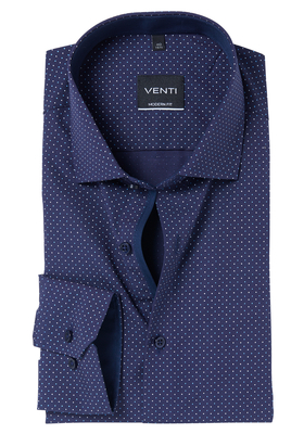Venti Modern Fit overhemd, blauw dessin (contrast)