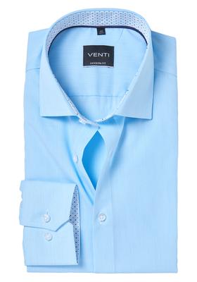 Venti Modern Fit overhemd, mintgroen gestreept (contrast)
