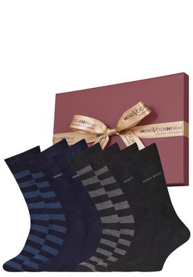Cadeaubox: 4 paar Hugo Boss sokken
