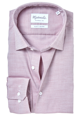 Michaelis Slim Fit overhemd, roze pinpoint