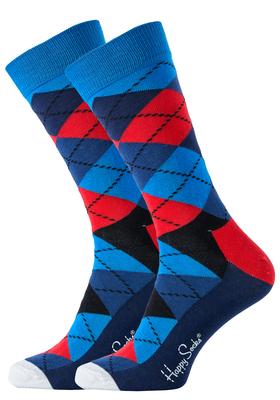 Happy Socks herensokken Argyle Sock rood-blauw