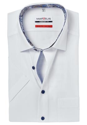 MARVELIS Comfort Fit, overhemd korte mouw, wit (contrast)