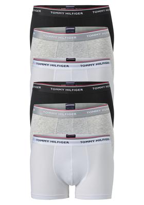 Actie 6 pack: Tommy Hilfiger boxershorts, zwart- wit en grijs