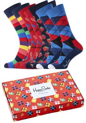Happy Socks cadeauset, 4-pack Rood cadeau