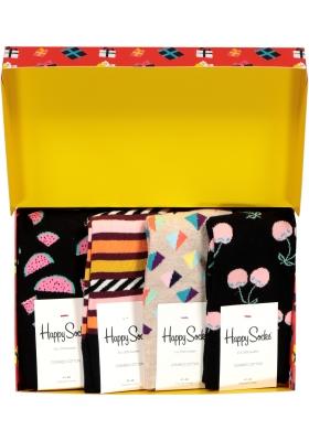 Happy Socks cadeauset, 4-pack Cadeau met een roze randje