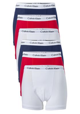 Actie 6-pack: Calvin Klein Trunks, rood- wit en blauw