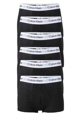 Actie 6-pack: Calvin Klein Low Rise Trunks, zwart