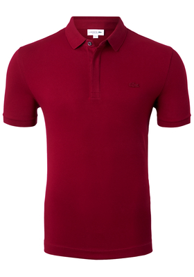 Lacoste stretch Regular Fit polo, bordeaux rood