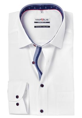 MARVELIS Comfort Fit, overhemd, wit (contrast)