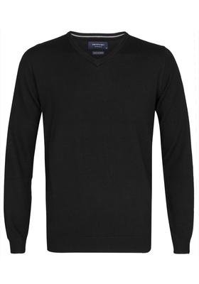 Profuomo Originale Slim Fit, heren trui wol, zwart